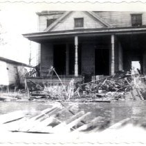 Image of H. L. Herman's House - Mrs. E. Crawford Meyer 1945 Flood Photograph Collection