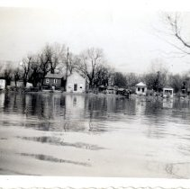 Image of River Road - Mrs. E. Crawford Meyer 1945 Flood Photograph Collection