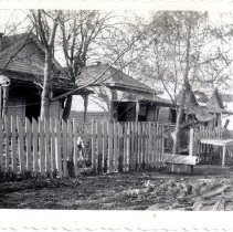 Image of 1500 block of Lloyds Street - Mrs. E. Crawford Meyer 1945 Flood Photograph Collection