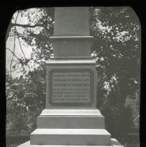 Image of Ephraim McDowell, M.D. monument - Edward and Josephine Kemp Lantern Slide Collection