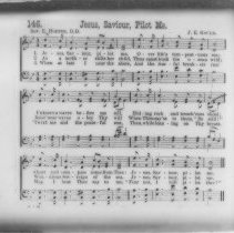 "Image of ""Jesus, Saviour, Pilot Me."" hymn lyrics - All-Prayer Foundlings Home Lantern Slide Collection"