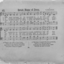 "Image of ""Sweet Name of Jesus"" hymn lyrics - All-Prayer Foundlings Home Lantern Slide Collection"