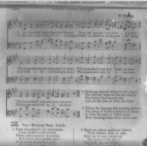 "Image of ""Jesus Shall Reign"" hymn lyrics - All-Prayer Foundlings Home Lantern Slide Collection"