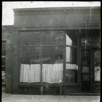 Image of Unidentified storefront - All-Prayer Foundlings Home Lantern Slide Collection