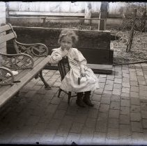 Image of Child sitting in chair - All-Prayer Foundlings Home Lantern Slide Collection