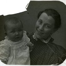 Image of Woman and child  - All-Prayer Foundlings Home Lantern Slide Collection