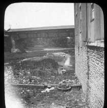 Image of Cottontown bridge  - Edward and Josephine Kemp Lantern Slide Collection