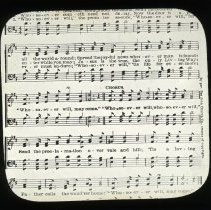 "Image of ""Whosoever Will"" hymn lyrics - All-Prayer Foundlings Home Lantern Slide Collection"