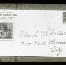 Image of All-Prayer Foundling's Home envelope.  - All-Prayer Foundlings Home Lantern Slide Collection