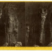 Image of Corinthian Columns - Magnesium Light Views in Mammoth Cave