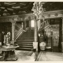 Image of Main Hall and grand staircase - Ferguson-White Family Photograph Collection