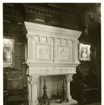 Image of Renaissance Revival Caen fireplace  - Ferguson-White Family Photograph Collection