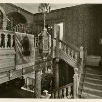 Image of Staircase from first floor - Ferguson-White Family Photograph Collection