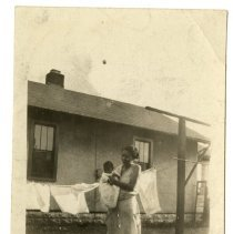 Image of Mary Stiar Lusby Reed and baby - Lusby Family Photograph Collection
