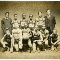 Image of Ernest Reed and basketball team - Lusby Family Photograph Collection