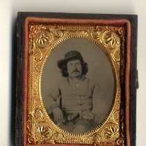 Image of Unidentified Civil War Soldier - Ambrotype Collection