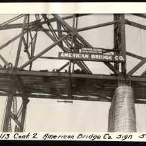 Image of American Bridge Company Sign [012PC49.113]