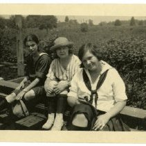 Image of Sitting on the tracks - Viola A. Tinker Glenn: Camp Chelan Photograph Collection
