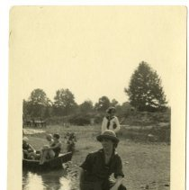 Image of Canoeing  - Viola A. Tinker Glenn: Camp Chelan Photograph Collection