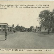Image of Camp Streets and Barracks - Postcard Collection