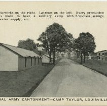 Image of Barracks and latrines - Postcard Collection