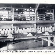 Image of Barracks kitchen - Postcard Collection