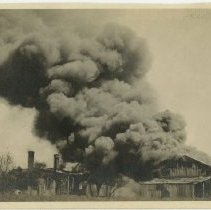 Image of House and barn burning - Subject Photograph Collection