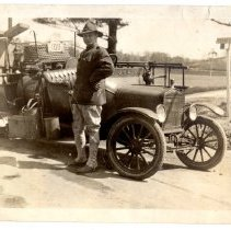 Image of Camp Zachary Taylor - fire truck - Subject Photograph Collection