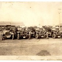 Image of Post fire trucks - Subject Photograph Collection