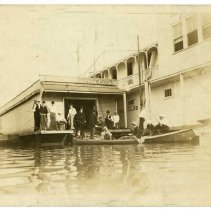 Image of Group outside Pastime Boat Club - Pastime Boat Club Photograph Collection
