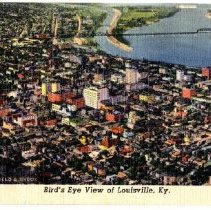 Image of Bird's Eye view of Louisville - Postcard Collection