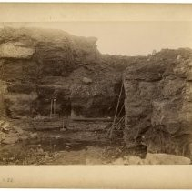 Image of Red and blue iron ore strata                                                                                                                                                                                                                                   - Rogers Clark Ballard Thruston Mountain Collection