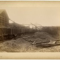 Image of Iron ore rail cars                                                                                                                                                                                                                                             - Rogers Clark Ballard Thruston Mountain Collection