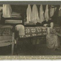 Image of Interior of Robert Wilson's log cabin                                                                                                                                                                                                                          - Rogers Clark Ballard Thruston Mountain Collection