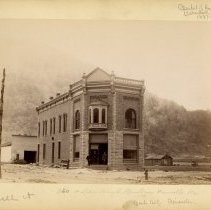 Image of Pineville bank building                                                                                                                                                                                                                                        - Rogers Clark Ballard Thruston Mountain Collection