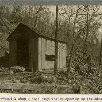 Image of Blacksmith shop and coal dump                                                                                                                                                                                                                                  - Rogers Clark Ballard Thruston Mountain Collection
