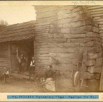 Image of Woman spinning flax                                                                                                                                                                                                                                            - Rogers Clark Ballard Thruston Mountain Collection