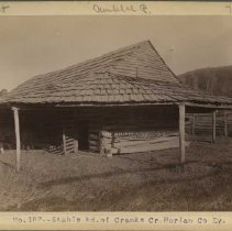 Image of Stable and barn of G. W. Smith                                                                                                                                                                                                                                 - Rogers Clark Ballard Thruston Mountain Collection