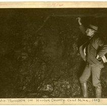 Image of Thruston in coal mine                                                                                                                                                                                                                                          - Rogers Clark Ballard Thruston Mountain Collection