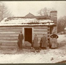 Image of Widow Morris' cabin                                                                                                                                                                                                                                            - Rogers Clark Ballard Thruston Mountain Collection