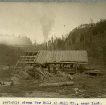 Image of Steam saw mill                                                                                                                                                                                                                                                 - Rogers Clark Ballard Thruston Mountain Collection