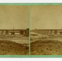 Image of Ohio River Bridge - Louisville Stereocard Collection
