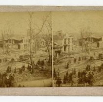 Image of 12th and Jefferson Streets damage - Louisville Stereocard Collection