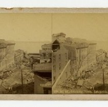 Image of 9th Street damage - Louisville Stereocard Collection
