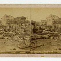 Image of 15th Street damage - Louisville Stereocard Collection