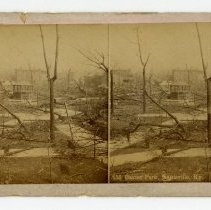 Image of Baxter Park damage - Louisville Stereocard Collection