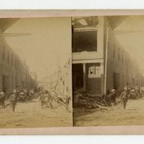 Image of 8th Street damage - Louisville Stereocard Collection