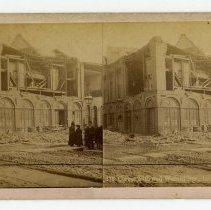 Image of 18th and Walnut Streets damage - Louisville Stereocard Collection