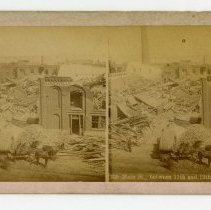 Image of Main Street between 11th and 12th damage - Louisville Stereocard Collection