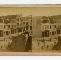 Image of 10th and Main Streets damage - Louisville Stereocard Collection